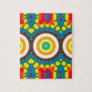 Puzzle Motif coloré de point de kaléidoscope