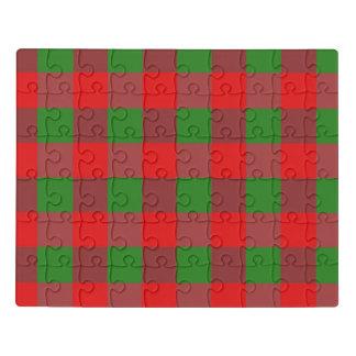 Puzzle Motif de contrôle de Noël de plaid de Buffalo,