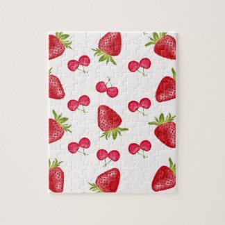 Puzzle Motif de fiesta de cerises de fraises