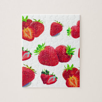 Puzzle Motif de fruit de fraise