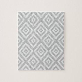 Puzzle Motif géométrique abstrait - gris