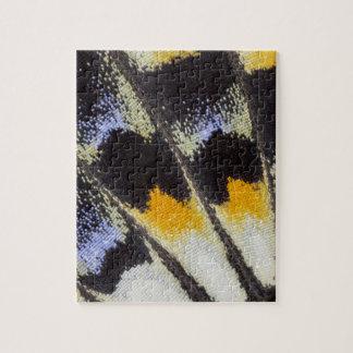 Puzzle Motif multicolore d'aile de papillon