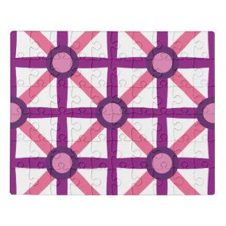 Puzzle Motif rose et pourpre génial