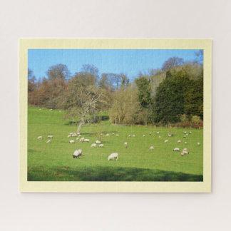 Puzzle Moutons au soleil d'hiver