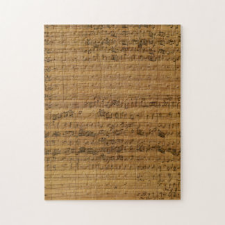 Puzzle Musique de feuille vintage par Johann Sebastian