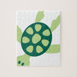 Puzzle Natation de tortue verte