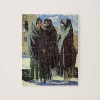 Puzzle Natif américain vintage, filles de Taos par Walter