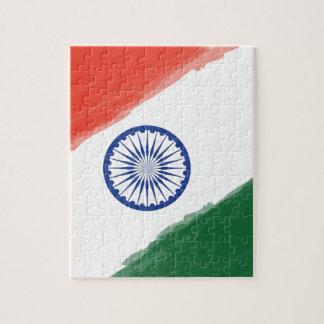 Puzzle Nation nationale de pays de l'Inde de drapeau