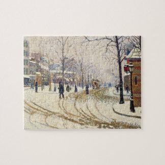 Puzzle Neige, Boulevard de Clichy, Paris par Paul Signac