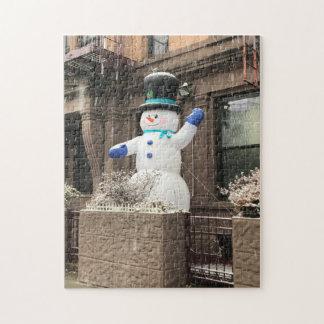 Puzzle Neige supérieure de New York City NYC de bonhomme