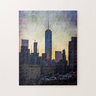Puzzle New York City au coucher du soleil