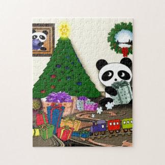 Puzzle Noël de panda