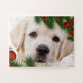 Puzzle Noël noir de Labrador