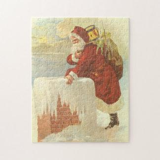 Puzzle Noël vintage le père noël victorien dans la