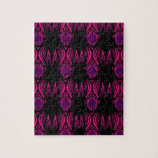 Puzzle Noir de rose de mandalas de conception