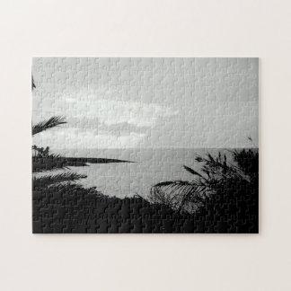 Puzzle noir et blanc de photographie de vue