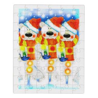 Puzzle Nounours de Noël