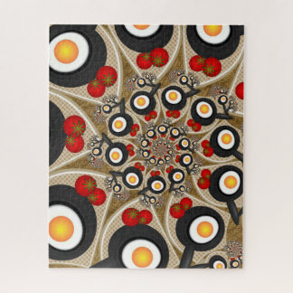 Puzzle Nourriture drôle d'art de fractale de brunch,