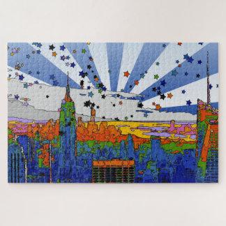 Puzzle NYC psychédélique : Vue large d'horizon d'ESB