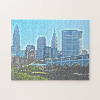 Puzzle occidental de Cleveland, berge de l'Ohio