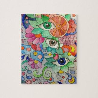 Puzzle Oeils en couleur