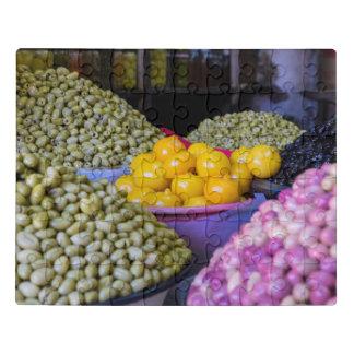 Puzzle Olives et citron au marché