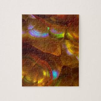 Puzzle Opale de feu orange iridescente