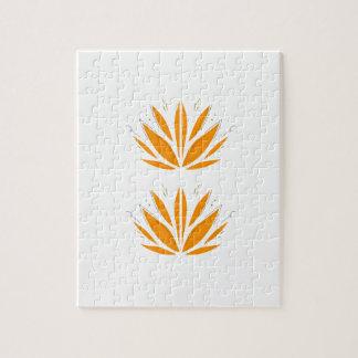Puzzle Orange de Lotus sur le blanc