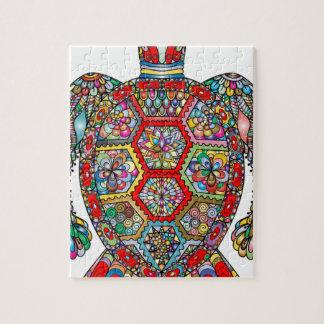 Puzzle Ornamental décoratif de fleurs florales de tortue
