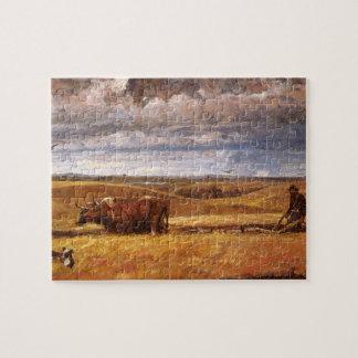 Puzzle Os de Buffalo labourés dessous par Harvey Thomas