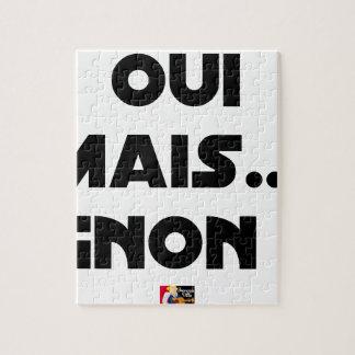 Puzzle OUI, MAIS GNON ! - Jeux de mots - Francois Ville