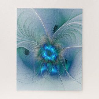 Puzzle Ovations debout, fractale bleue abstraite de