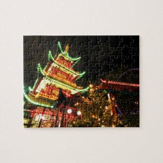 Puzzle Pagoda chinoise la nuit
