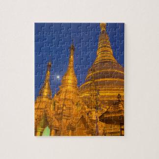 Puzzle Pagoda de Shwedagon la nuit, Myanmar