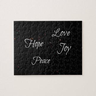 Puzzle Paix d'espoir de joie d'amour