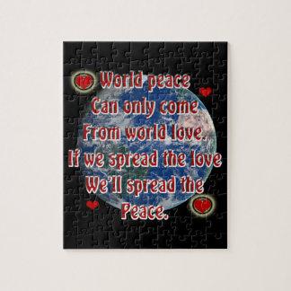 Puzzle Paix du monde