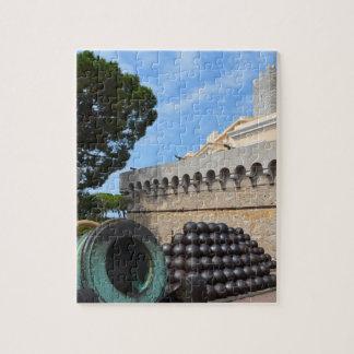 Puzzle Palais du Monaco - boulets de canon et canons