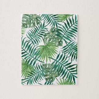 Puzzle Palmette botanique tropicale de plante