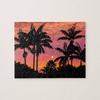 Puzzle Palmiers silhouettés, Hawaï