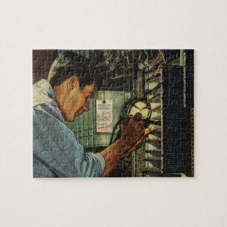 Puzzle Panneau de disjoncteur vintage d'électricien