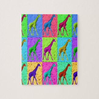 Puzzle Panneaux de marche de girafe d'art de bruit