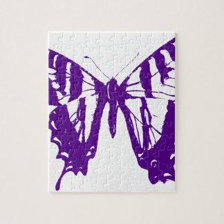 Puzzle Papillon pourpre
