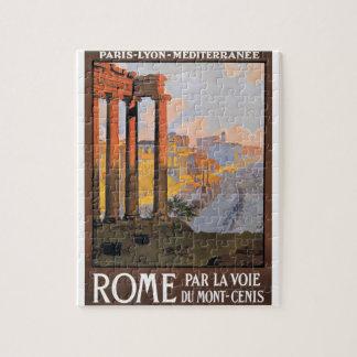 Puzzle Paris 1920 à l'affiche de voyage de train de Rome