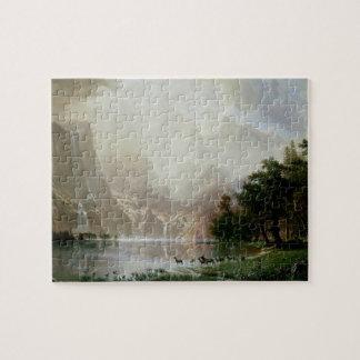Puzzle Parmi la sierra montagnes de Nevada par Bierstadt