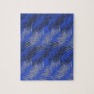 Puzzle Paumes exotiques bleues de conception