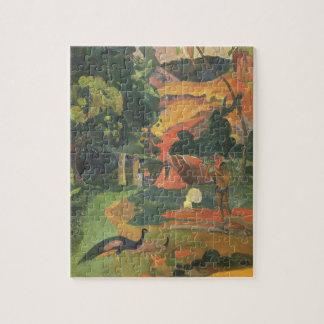 Puzzle Paysage avec des paons par Paul Gauguin