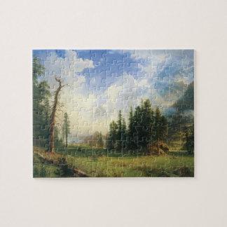 Puzzle Paysage de montagne par Albert Bierstadt
