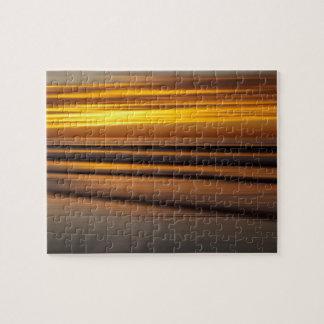 Puzzle Paysage marin abstrait au coucher du soleil, CA