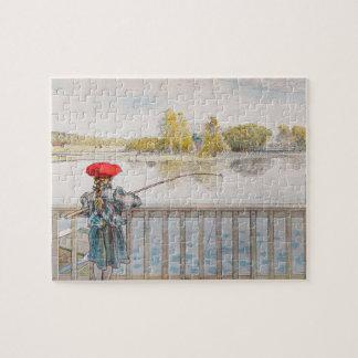 Puzzle Pêche de Lisbet par Carl Larsson, beaux-arts