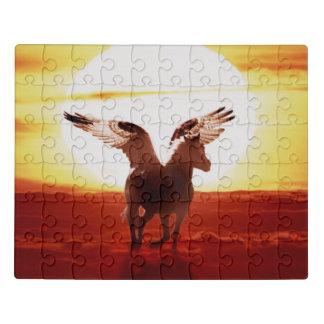 Puzzle Pegasus au lever de soleil